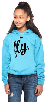 FIRST LOVE YOURSELF FLY YOUTH HOODIE CALI BLUE