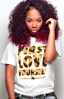 First Love Yourself Leopard Tee
