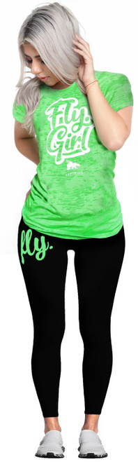 877c95bd60819 Fly. Girl LEGGINGS: Neon Green