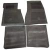 1964-72 Chevelle Rubber Bowtie Floor Mats (Black)