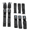 1966-72 GM Style Front Retractable & Rear Lap Seat Belts w/ Plastic Buckle Cover,(Set of 5)