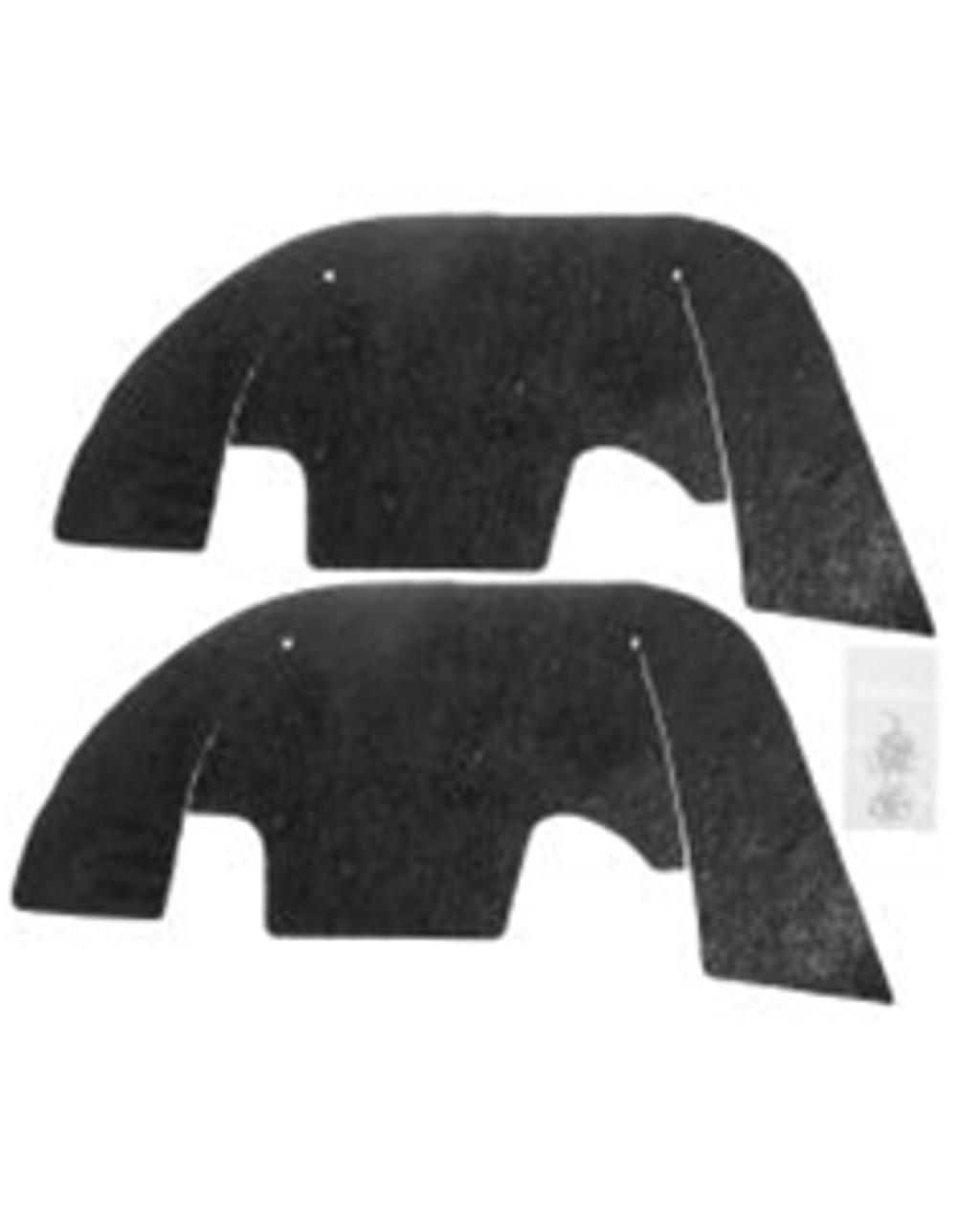 1969-72 A Arm Splash Flaps (Plastic Inner Fenders) (Pair)
