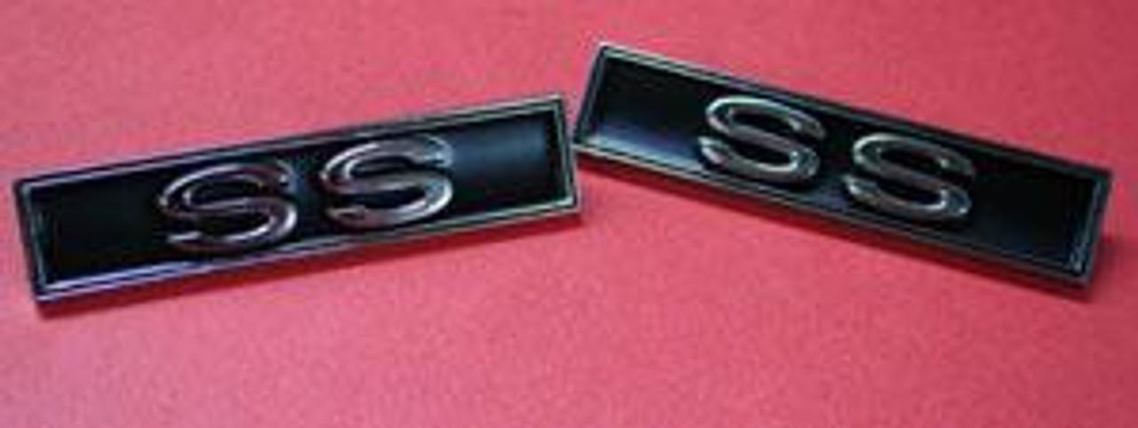 1970-73 Chevelle SS Door Panel Emblems (Pair)