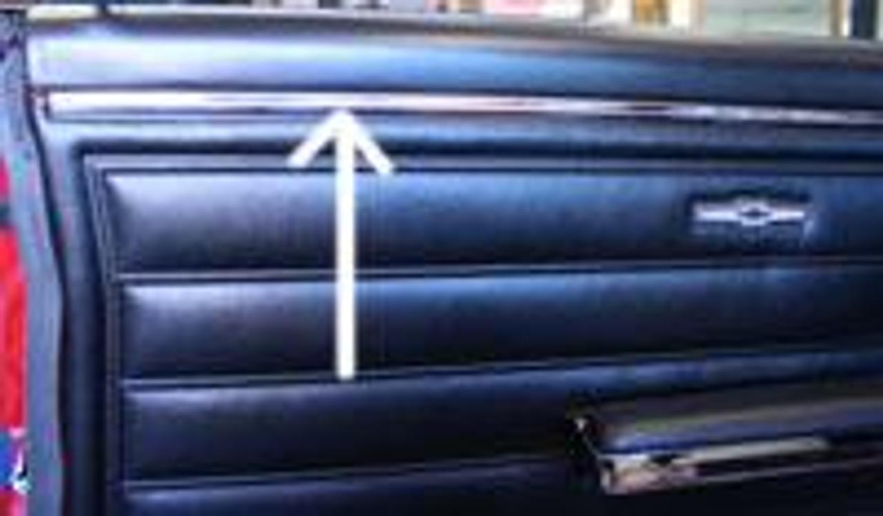 1964-67 Chevelle Door Panel Upper Retainer Moldings