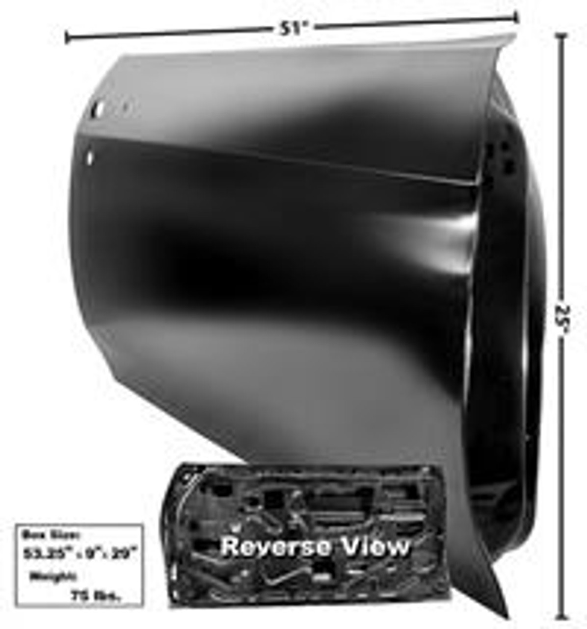 1970-72  Chevelle Full Door Shell (Right)