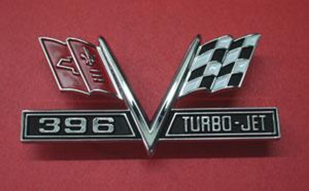 1965-67 396 Turbo Jet Fender Flags (Pair)