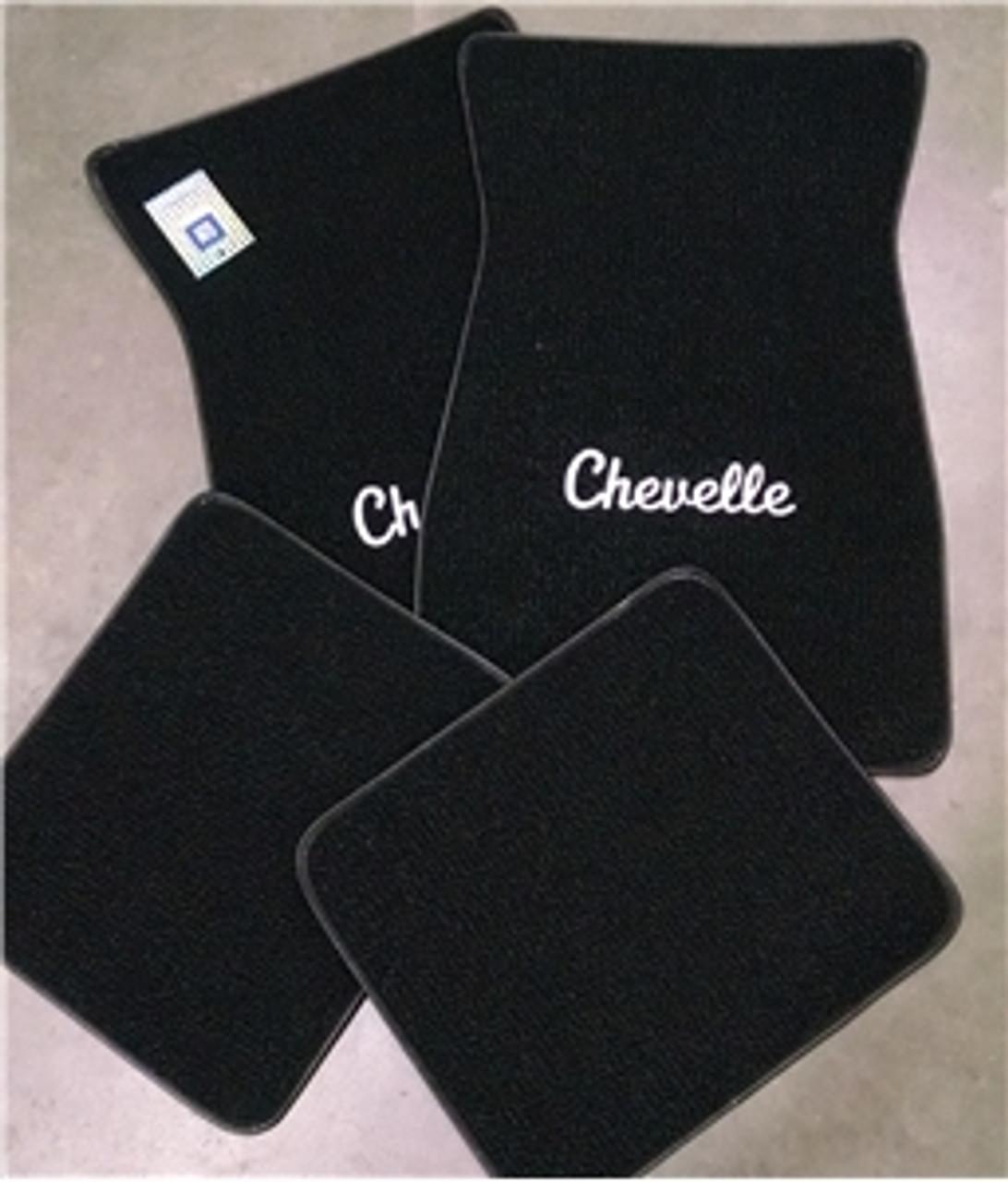 1964-72 Carpet Chevelle Logo Floor Mats