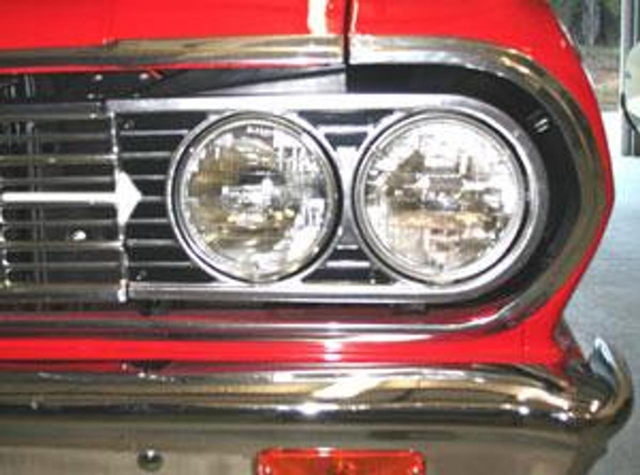 1964 Headlight Bezels (Pair)