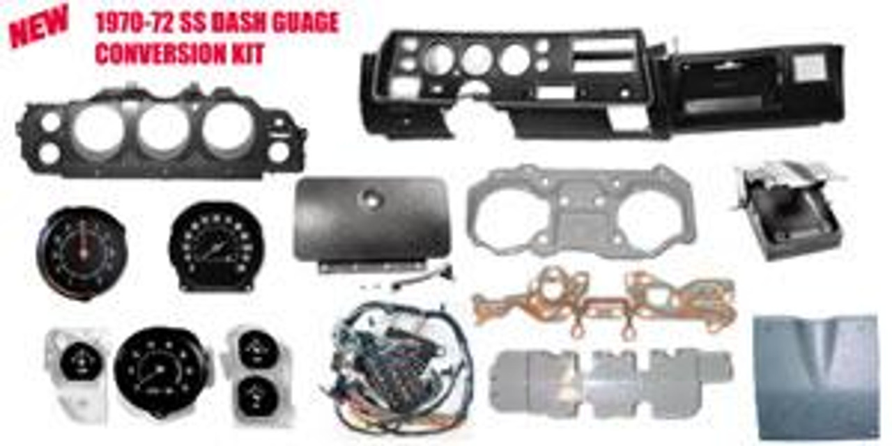 1970-72 SS Dash Gauge Conversion Kit