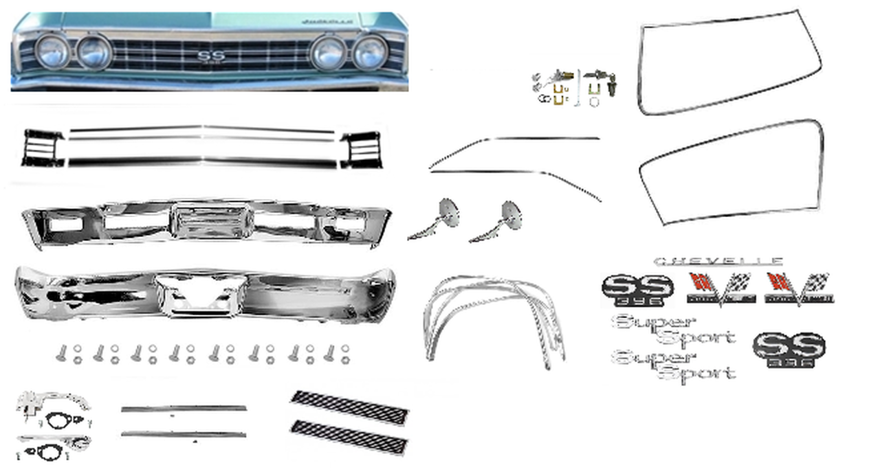 1967 Chevelle SS Exterior Chrome Kit