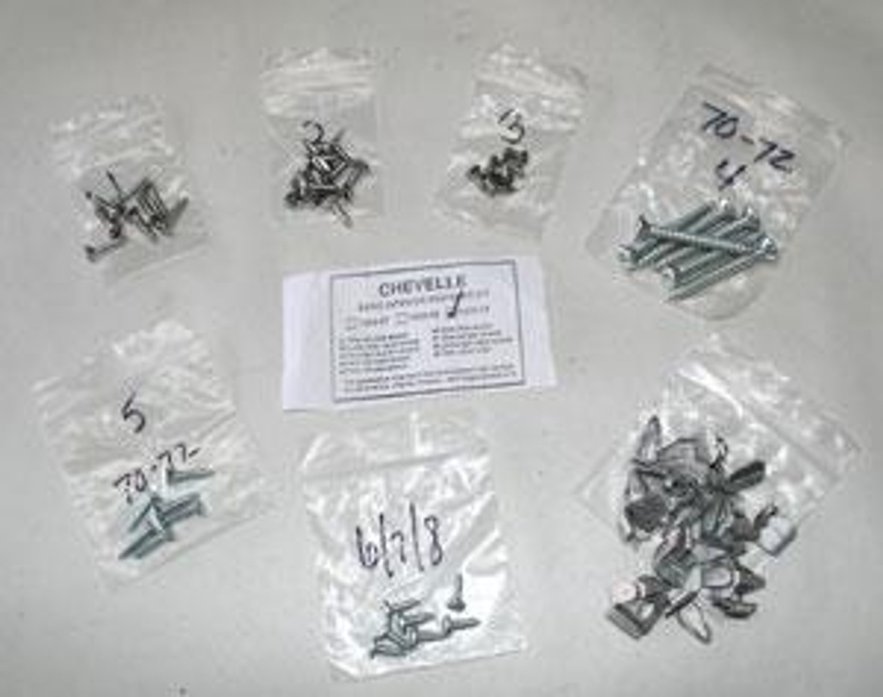 1964-67 Basic Chevelle Interior Fastener/ Screw Kits