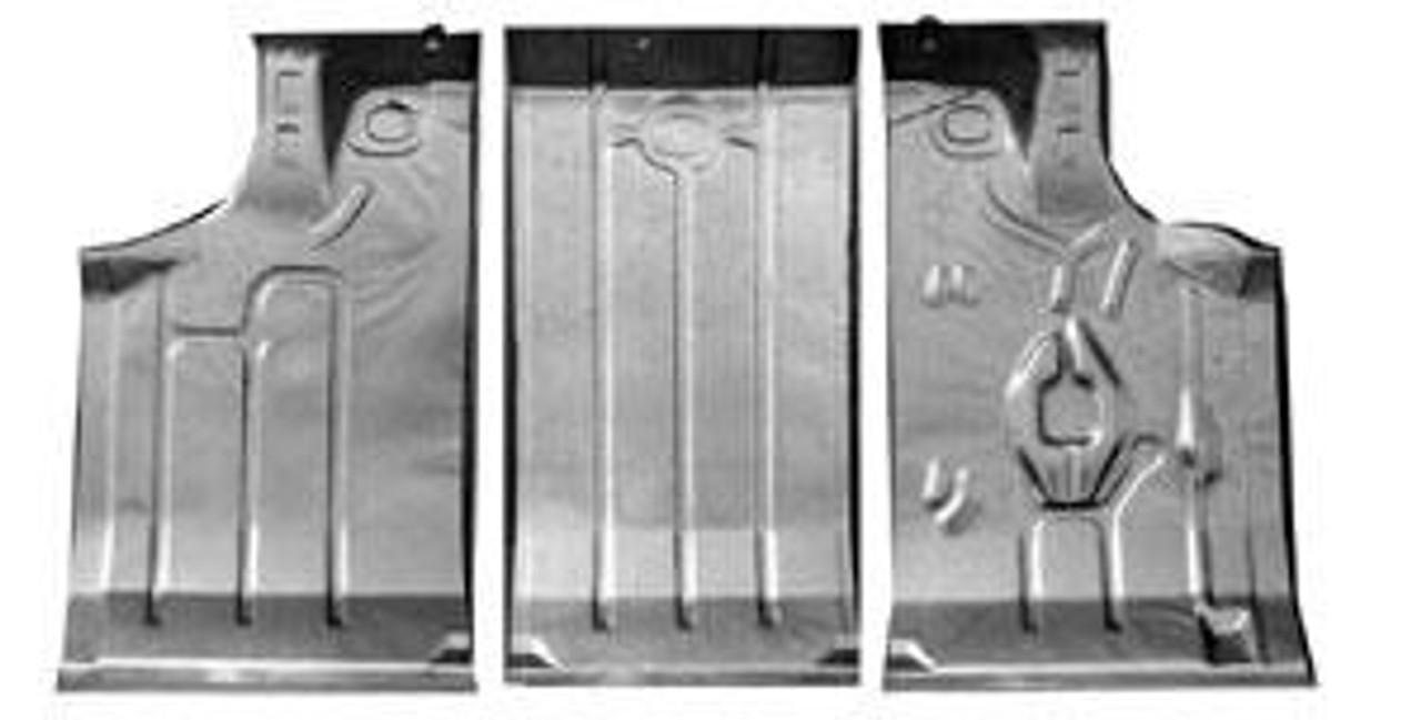1964-67 Trunk Floor Pan Kit (3 Pieces)