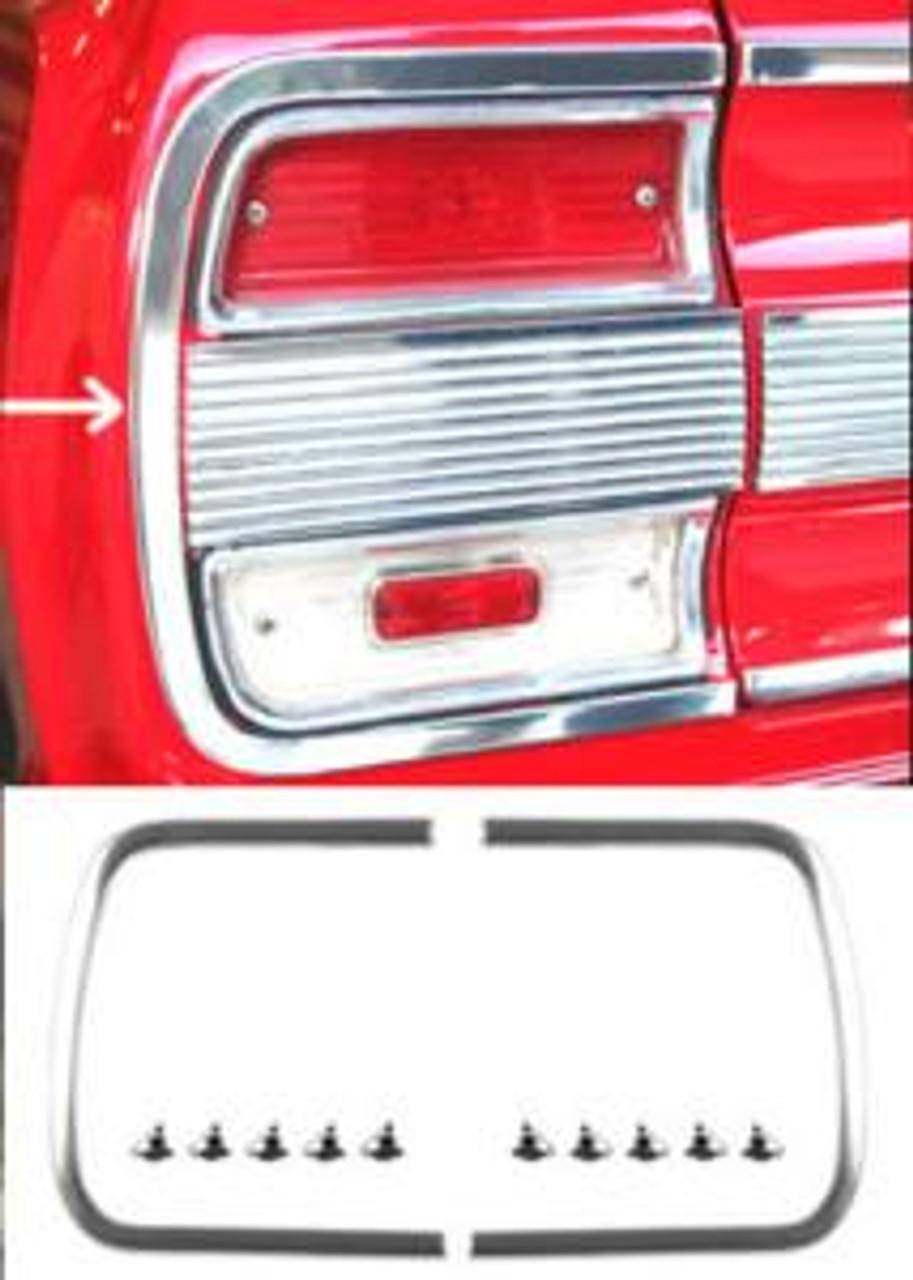 1964 Rear Panel C Moldings (Pair)