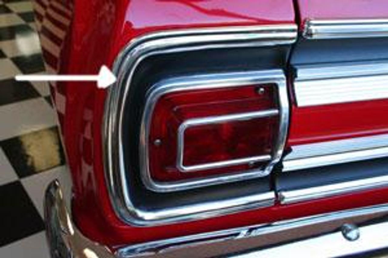 1965 Rear Panel C Moldings (Pair)