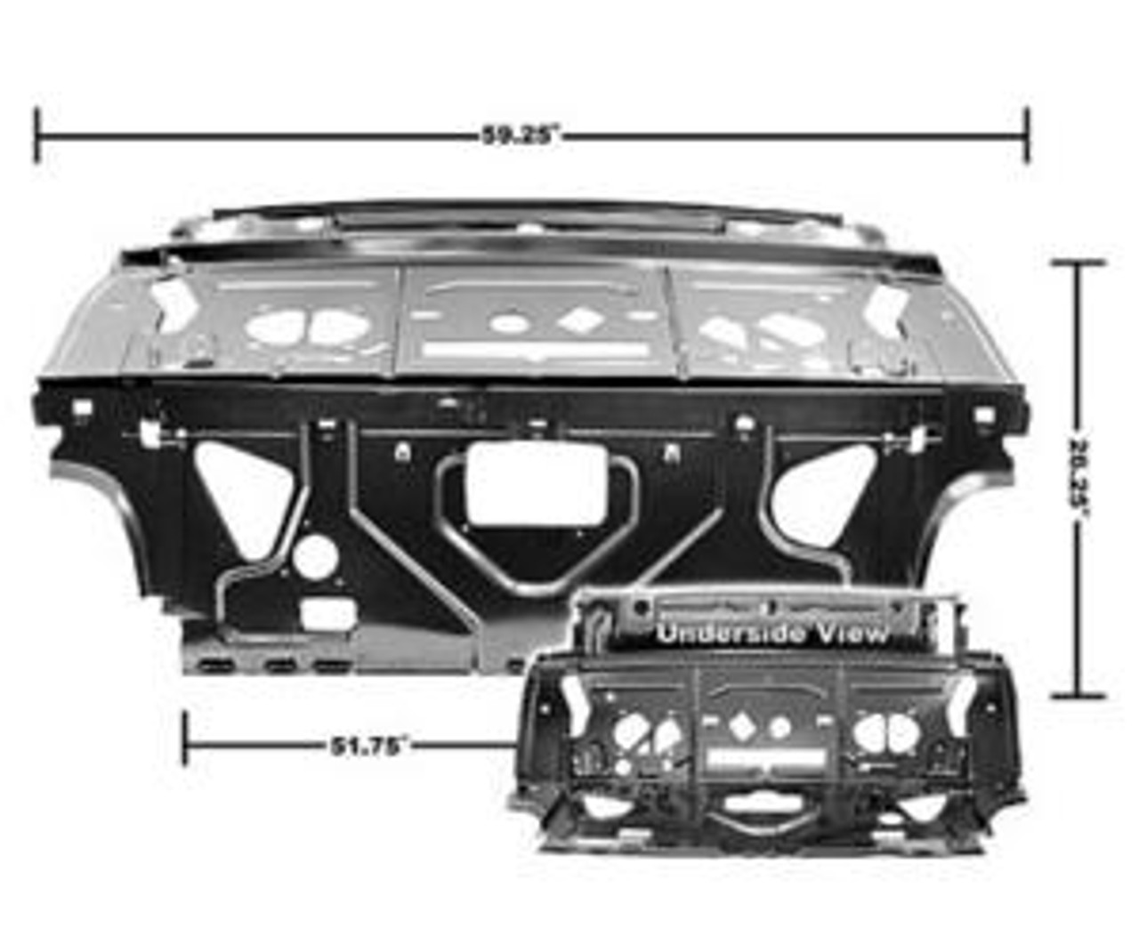 1968-72 Rear Divider & Package Tray Panel