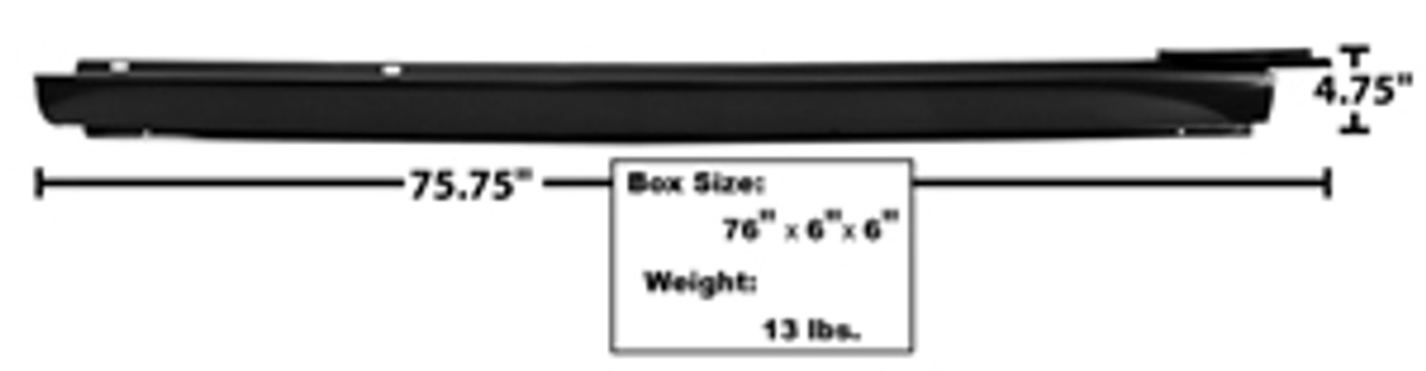 1964-67 Outer Rocker Panel, Hard Top or Convertible (Right)
