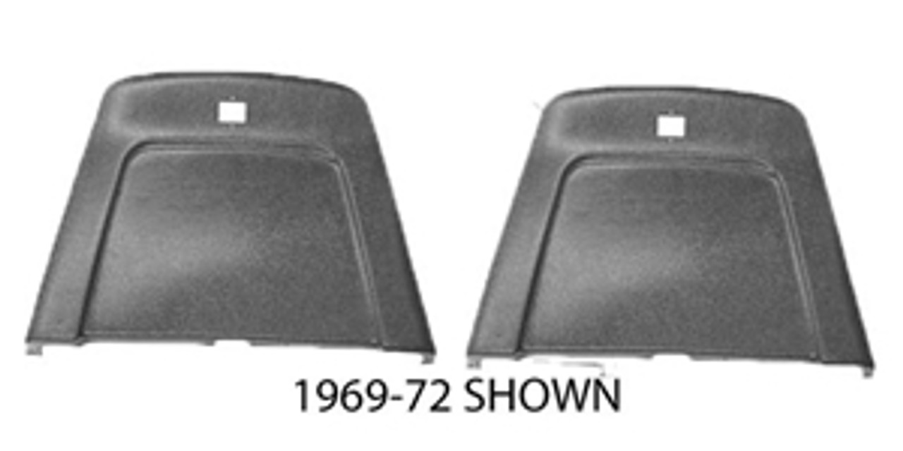 1968-72 Chevelle Seat Backs with Chrome (Pair)