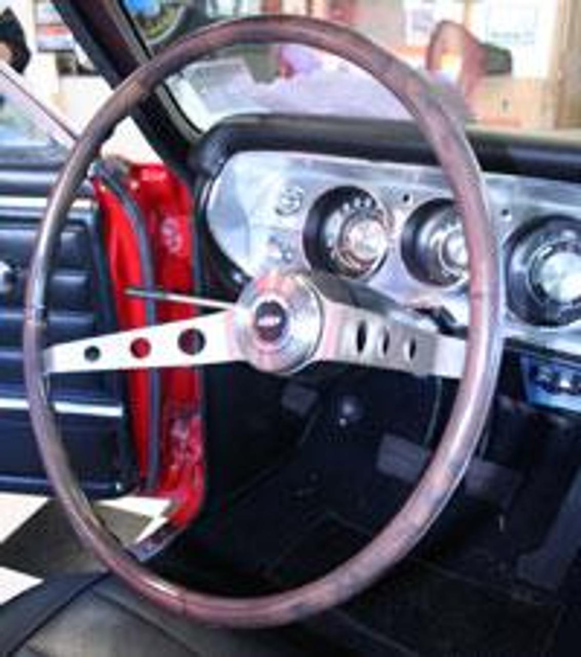 1964-66 2-Spoke Wood Steering Wheel (complete)