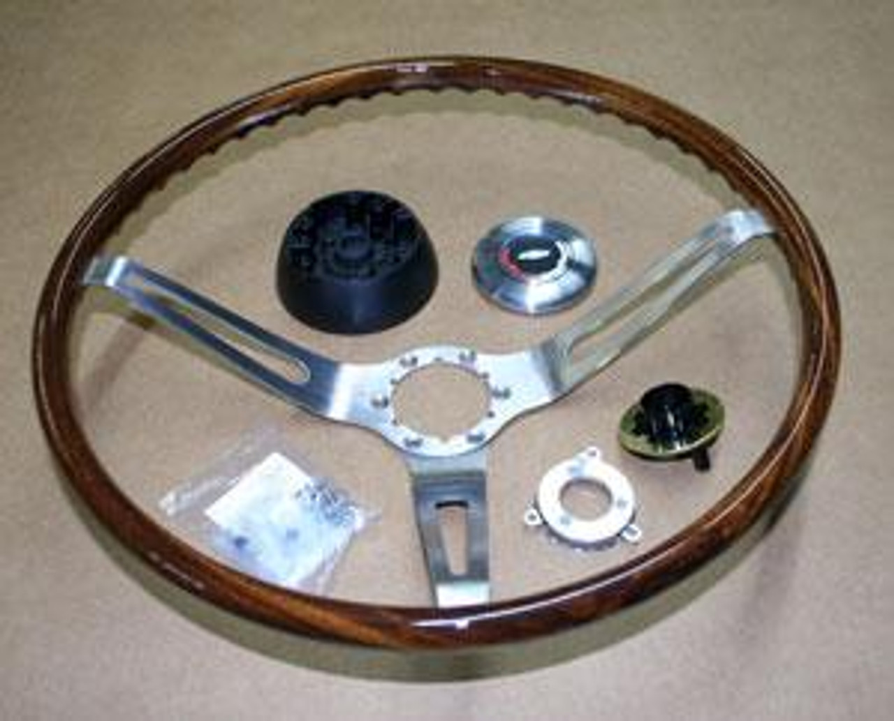 1967-68 Walnut Steering Wheel (Complete)