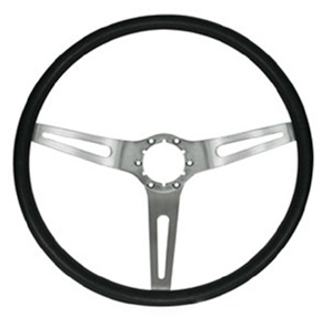 1970 Black 3-Spoke Steering Wheel (Wheel Only)