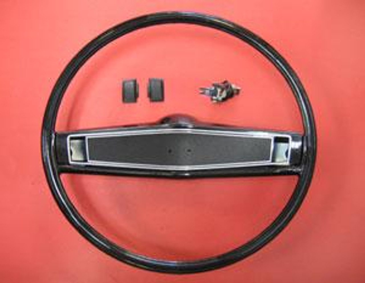 1969-70 Stock Black Steering Wheel (Complete) W/O EMBLEM