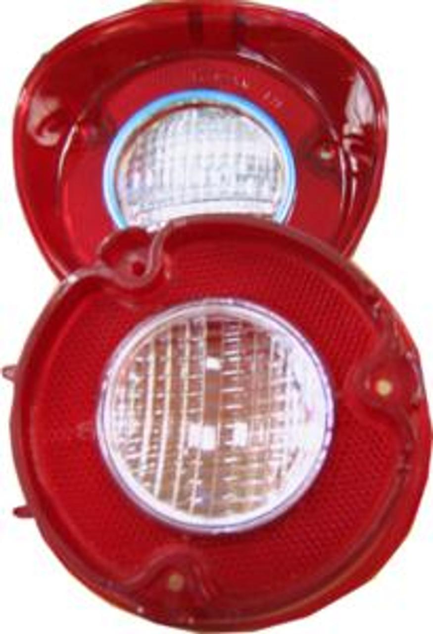 1972 Back Up Light Lens w/Trim Pr.