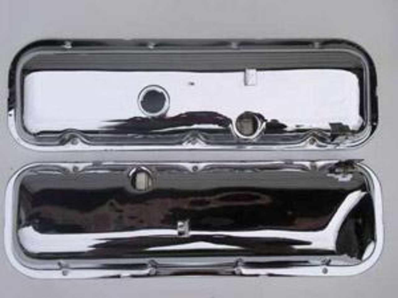1967 Style Valve Covers with Slant & Drippers (Pair)
