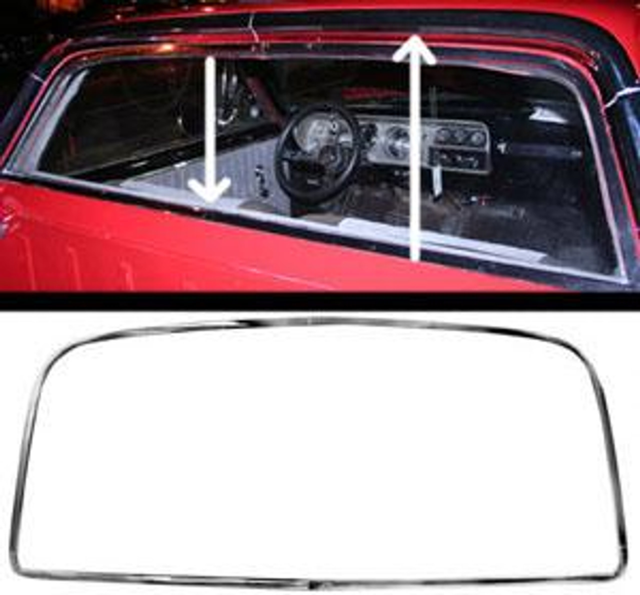 1964-67 El Camino Rear Window Moldings