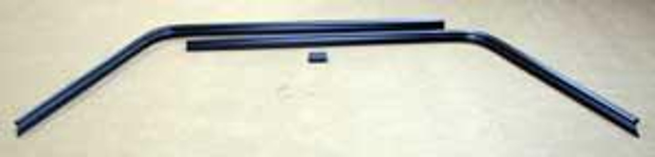 1966 1967 Interior  Rear Window Trim HT. (3 piece black only)
