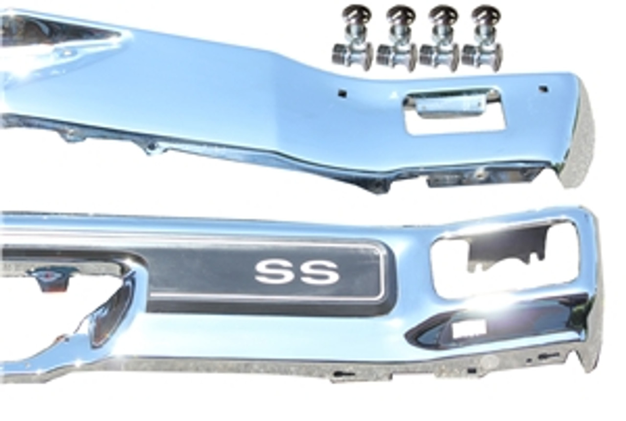 1970 Front and Rear Bumper Kit with Pad Included w/bolts