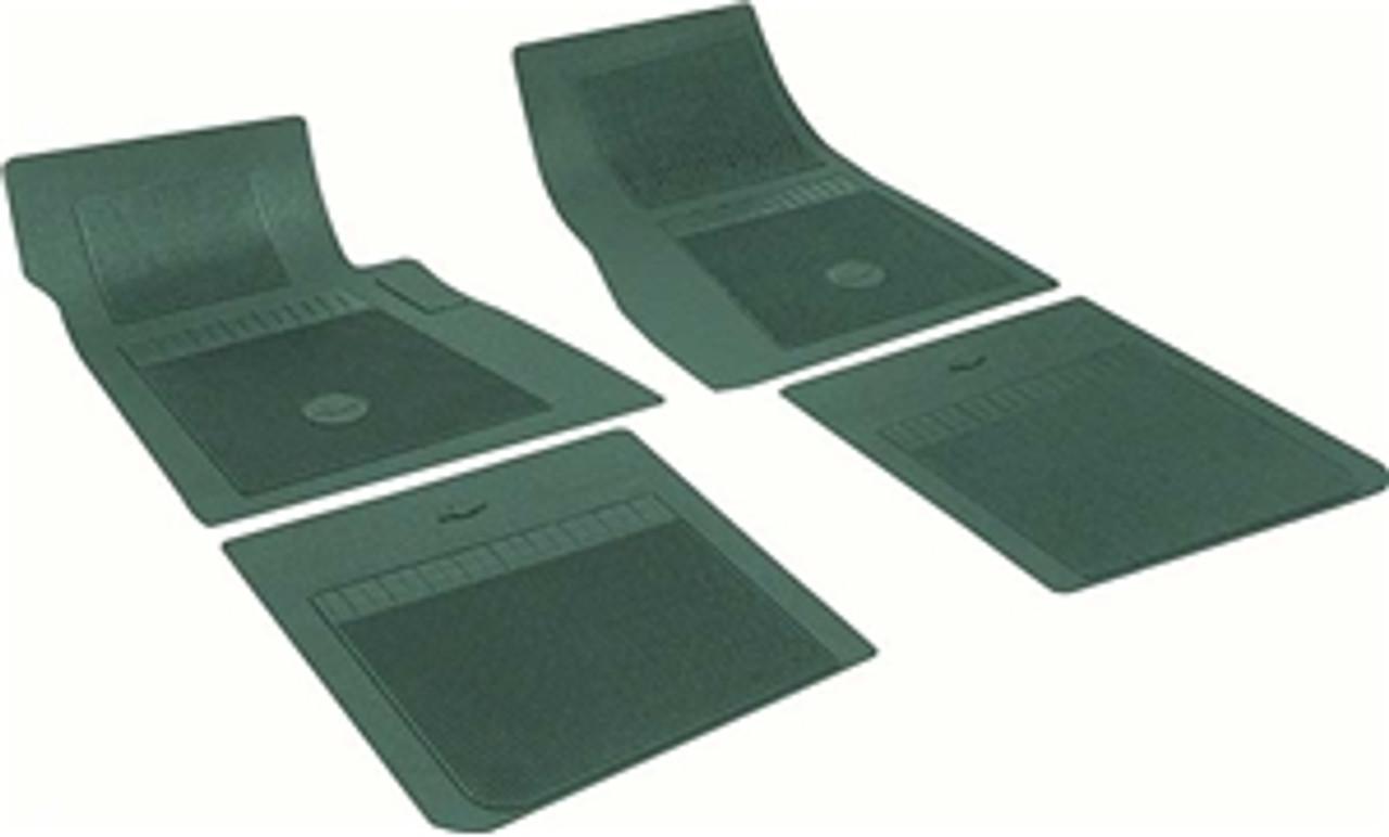 1964-72 Chevelle  Rubber Bowtie Floor Mats (Dk. Green)