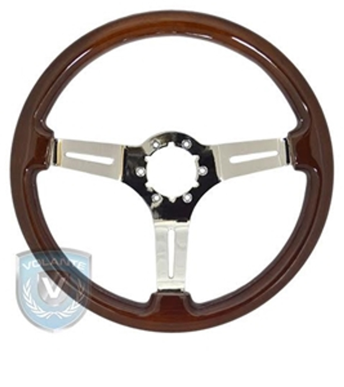 "14"" Wood Wheel w/ Chrome Center (complete)"