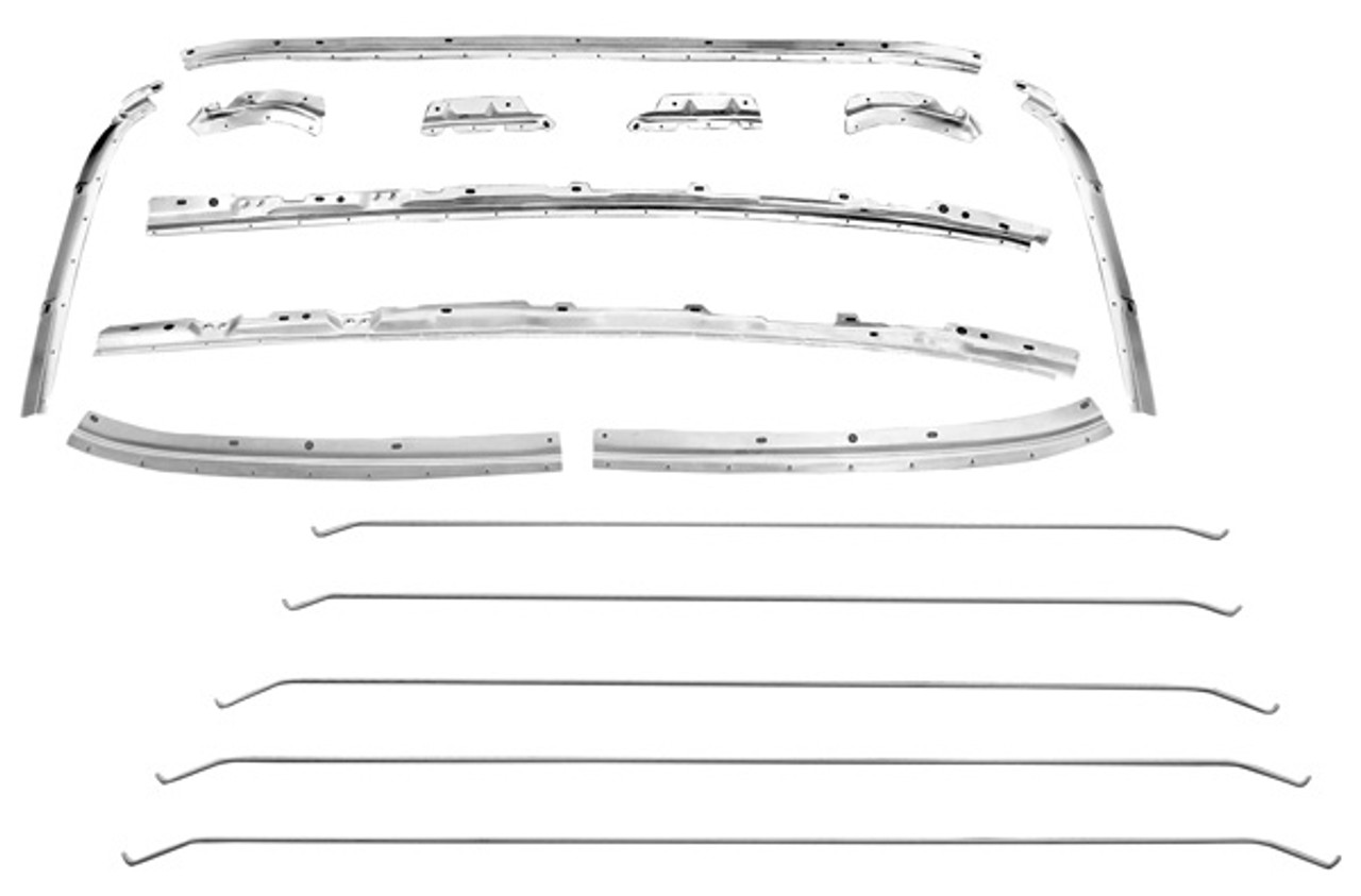 1968-72 HEADLINER RETAINER TRIM KIT 16 PCS (set) NO ETA AT THIS TIME.