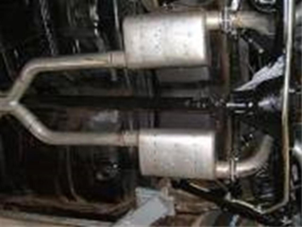 "1964-72 A-BODY 2.5"" CROSSMEMBER BACK W/ X-PIPE SYSTEM"