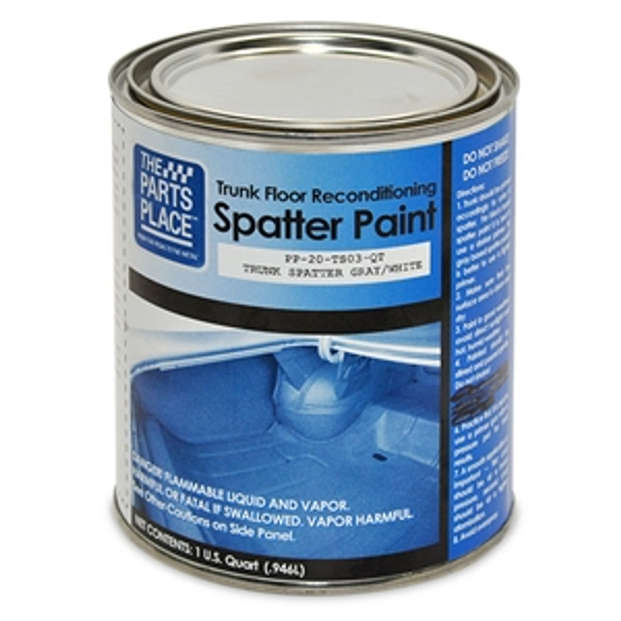 1964-66 Trunk Spatter Paint (Gray and White) (One Quart)