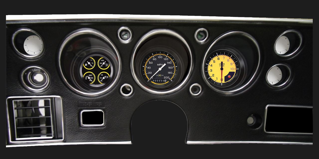 AutoCross Yellow 1970-72 Chevelle SS Package