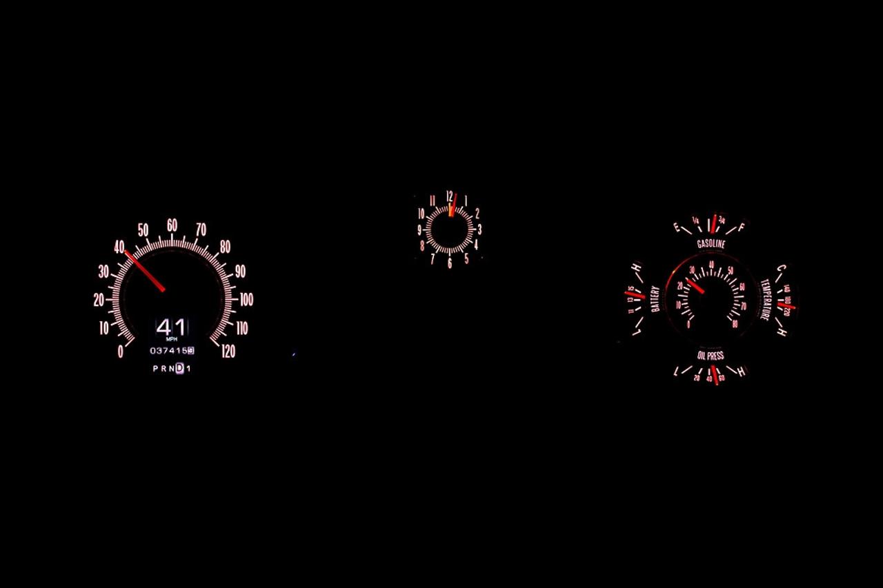 1969 Chevy Chevelle  El Camino RTX Instruments