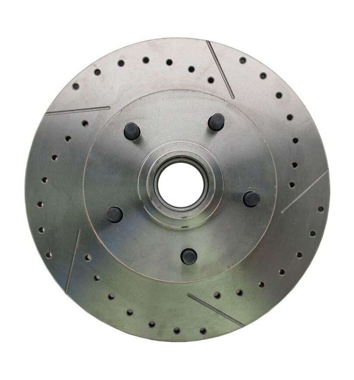 1969-72 Drilled and Slotted, Front Brake Rotor pr