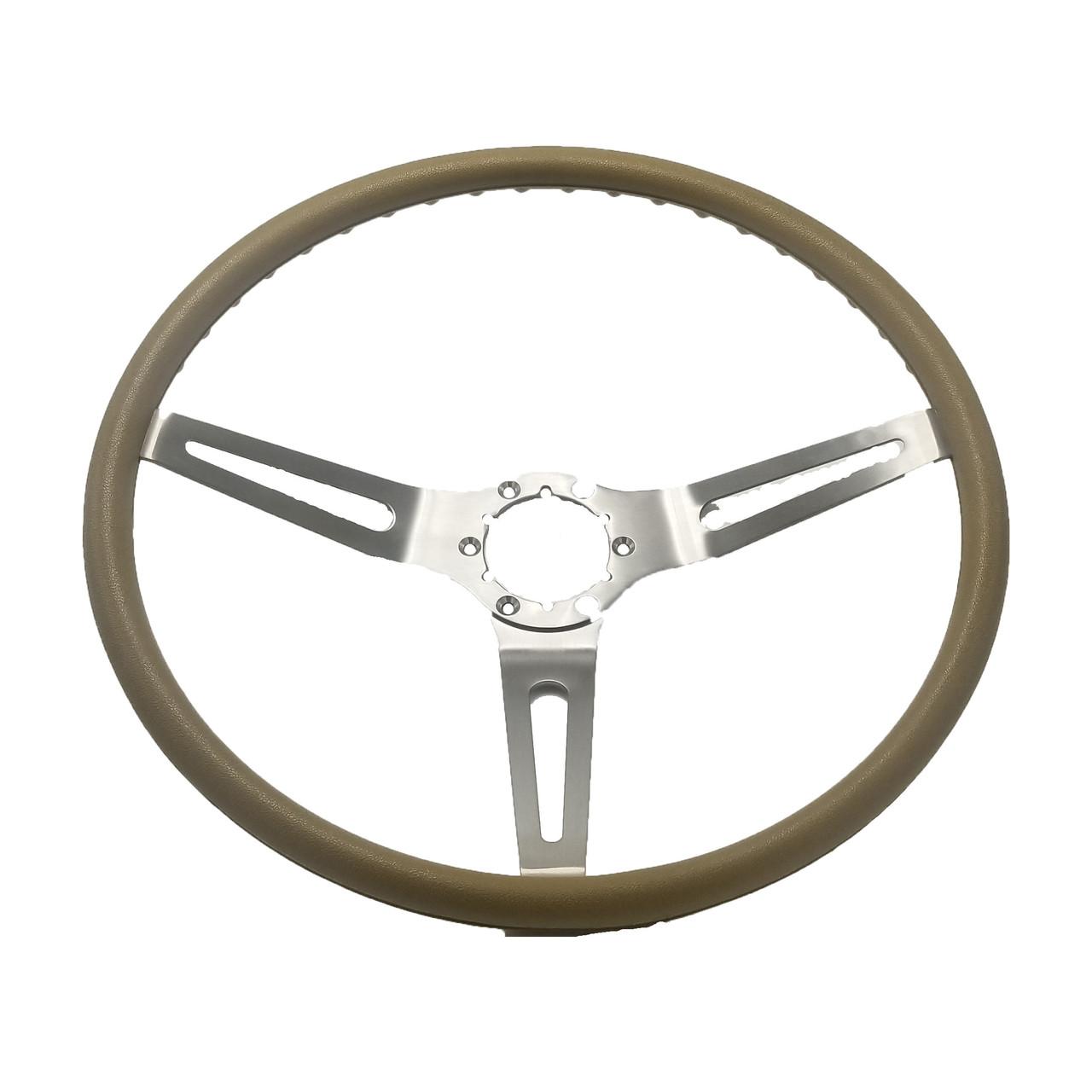 1970 Saddle  3-Spoke Steering Wheel (complete)