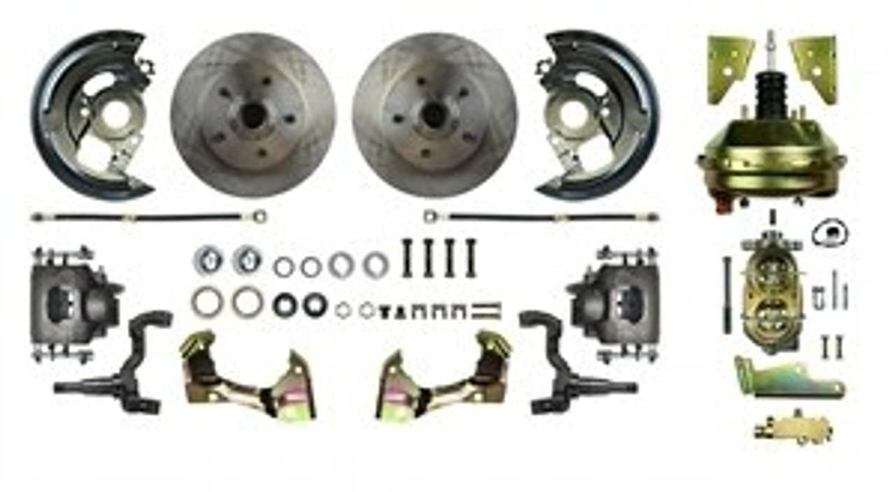 1964-72 Front Disc Brake Conversion Kit, With 14 Inch Wheels