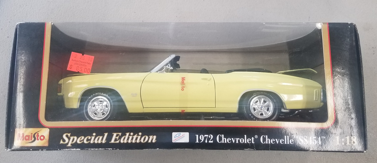 1972 Yellow Convertible SS 454, Special Edition 1:18 Scale