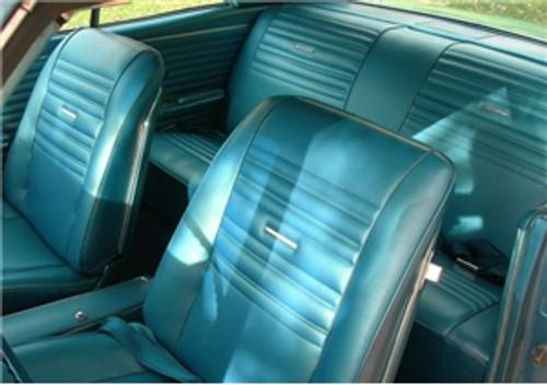 Hard Top 3 Pieces Set 1966 1967 Chevelle El Camino Rear Headliner Molding