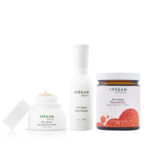 Recharge Day Cream, Detox Cleanser and NutraChic