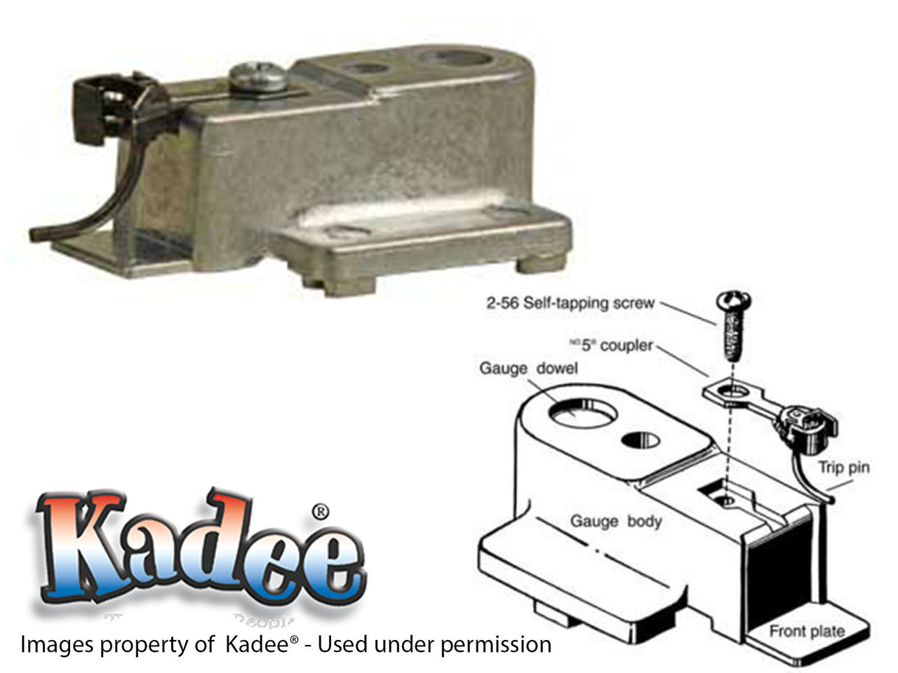 205 Kadee® HO Scale Coupler Height for Brass or Plastic Passenger Freight