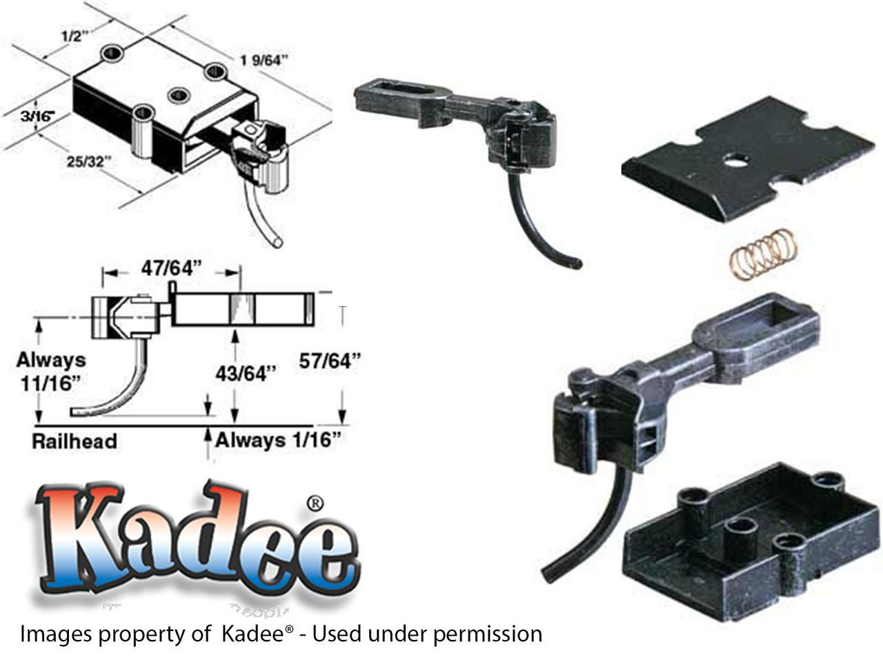 742 Kadee® O Scale Medium Overset Shank Metal Coupler plastic box for Brass