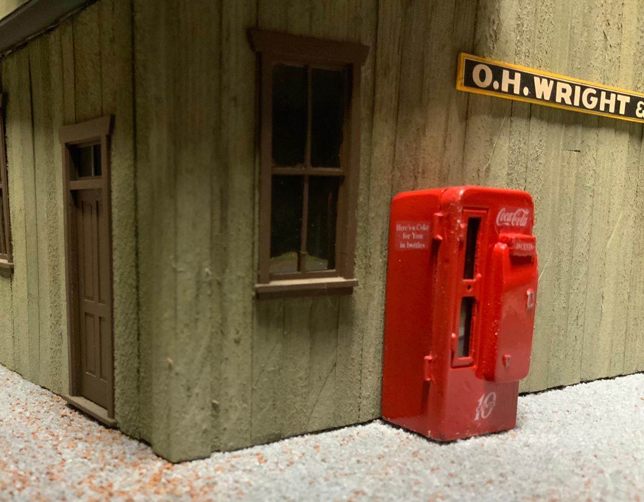 48-1501 1/43 1/48 Coke Machine Coca-Cola for O Scale Diorama