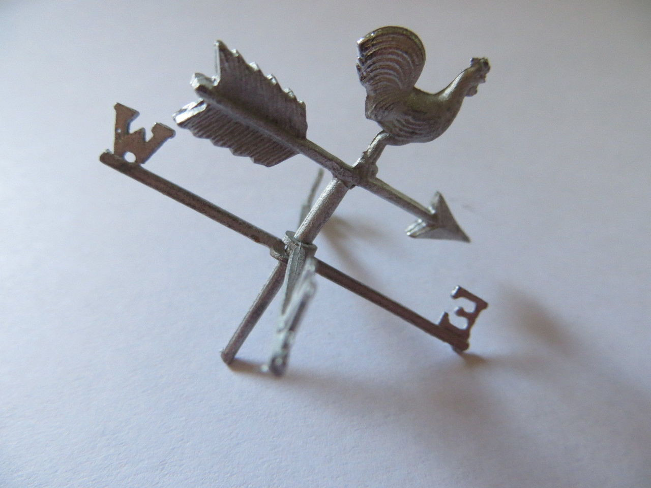 MM782 Dollhouse Miniature WeatherVane Weather Vane Rooster Very Detailed Pewter