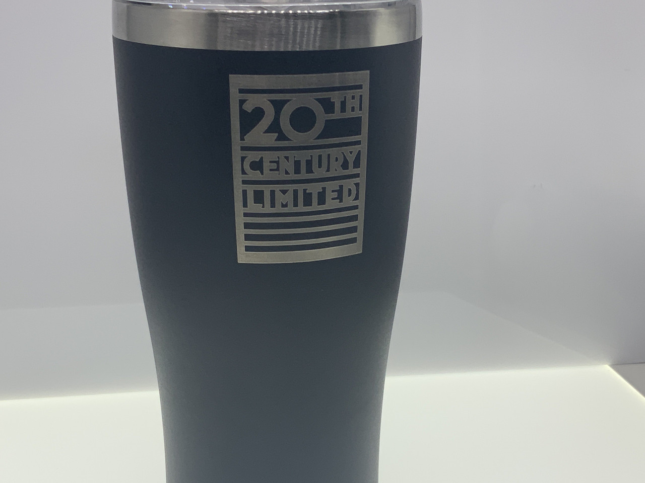 Stainless 20oz Tumbler NYC New York Central engraved for O HO scale modeler