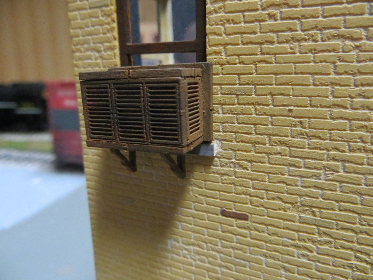 48-4008 Laser Cut Air Conditioner Window Conditioning Kit O Scale