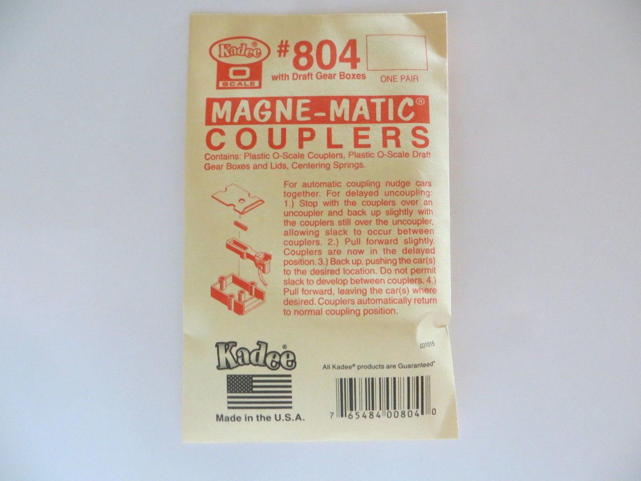 Kadee 804 O Scale Couplers Acetal Plastic with Metal Springs